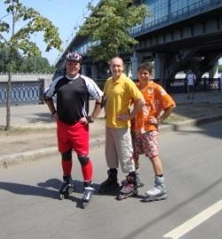 наше летнее катание на роликах по набережной Москва-реки!