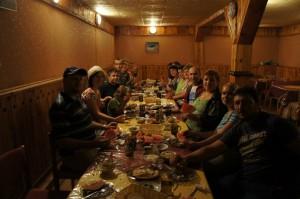 ужин в Домбае