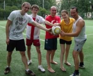 Команда Best Life Team на футболе