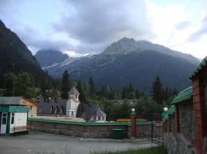 гостиница с видом на горы